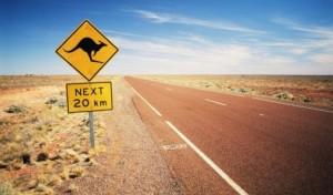 Ligne droite en Australie