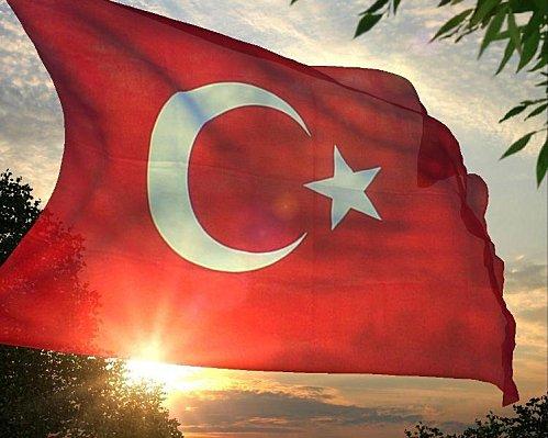 Drapeau Turquie - Couché de soleil