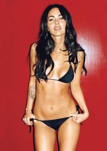 Megan Fox bikini noir
