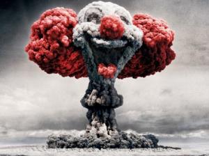 Fumée de bombe en forme de clown