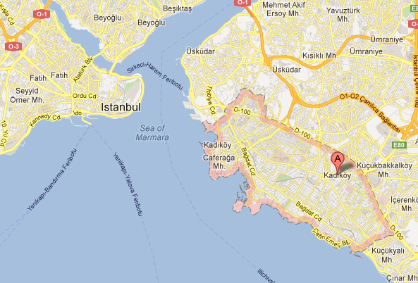 Google Maps - Kadikoy Istanbul Turquie