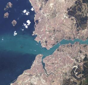 Istanbul - vue satellité