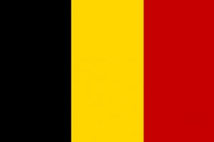 Drapeau noir jaune rouge Begique / Belgium flag