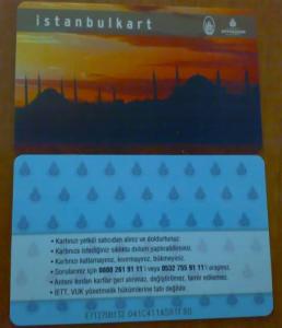 Istanbulkart - recto verso