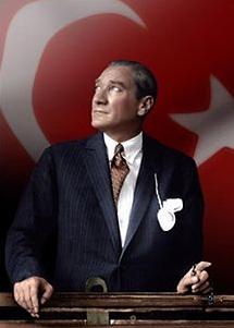 Mustafa Kemal Atatürk - Drapeau Turquie