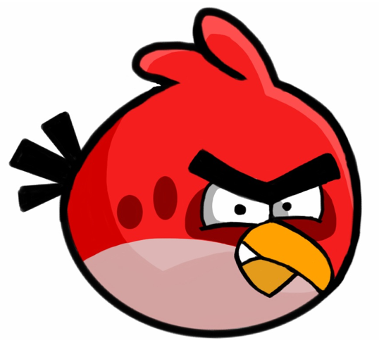 Angry Bird rouge en colère