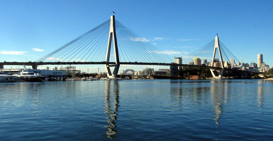 Anzac Bridge Sydney - Vue panoramique