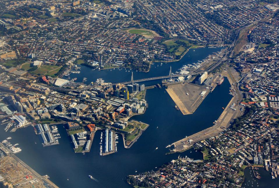 Sydney Anzac Bridge (photo vue du ciel)