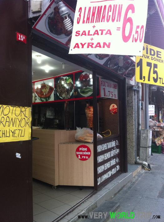 Kebab shop en Turquie