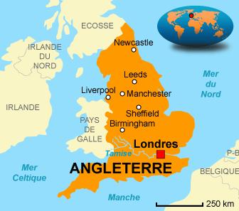 Carte Angleterre - Liverpool