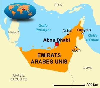 Carte Emirats Arabes Unis - Abu Dhabi