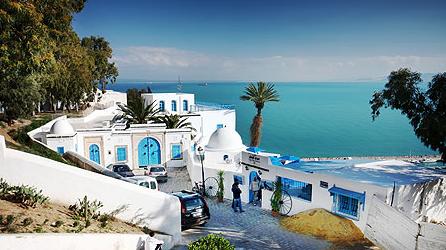 Voyager en Tunisie - Ville bleue et blanche Sidi Bou Saïd