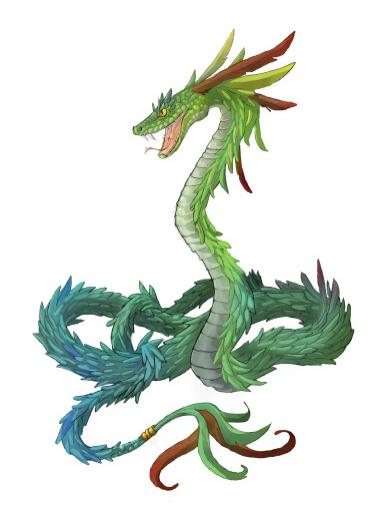 quetzal - serpent à plumes (oiseau aux longues plumes colorées)