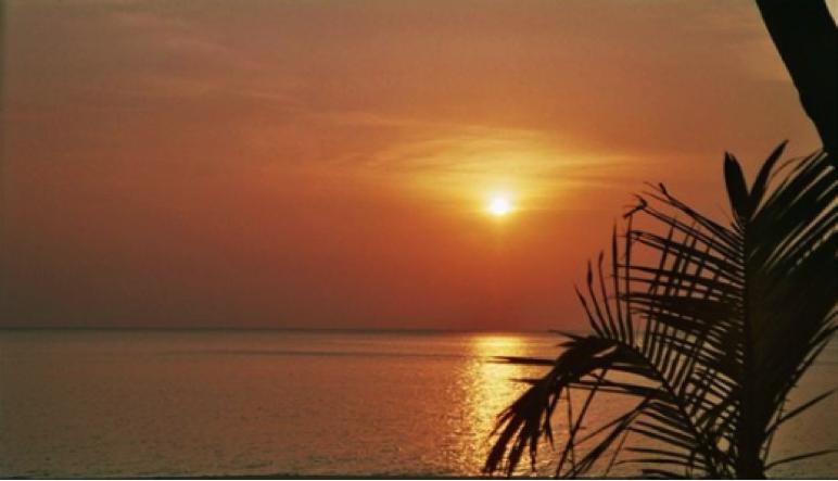 Couché de soleil sur l'île de Koh Tao en Thaïlande