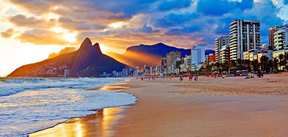 Plage de copacabana - bresil - rio de janeiro