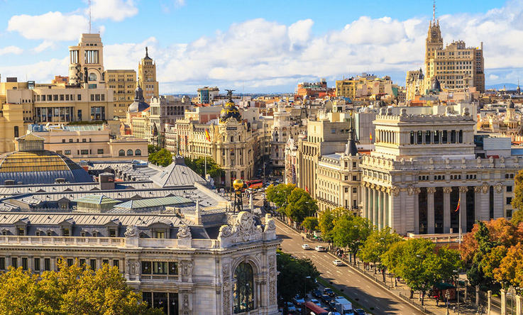 Madrid vue du ciel