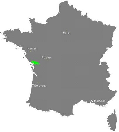 Carte Marais Poitevin