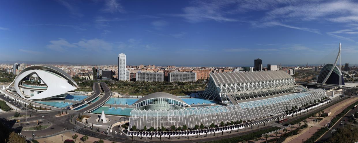 Panorama Ciudad de las Artes y las Ciencias - Valencia Spain