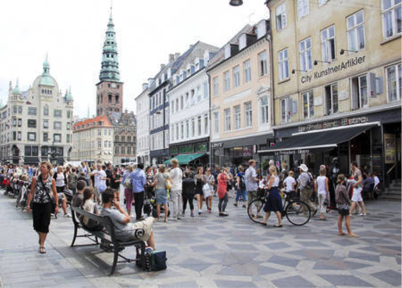 Stroget Street - Copenhague Danemark