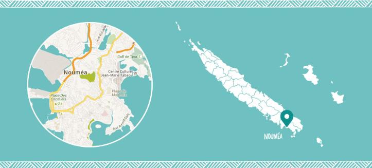Noumea map - carte nouvelel caledonie noumea