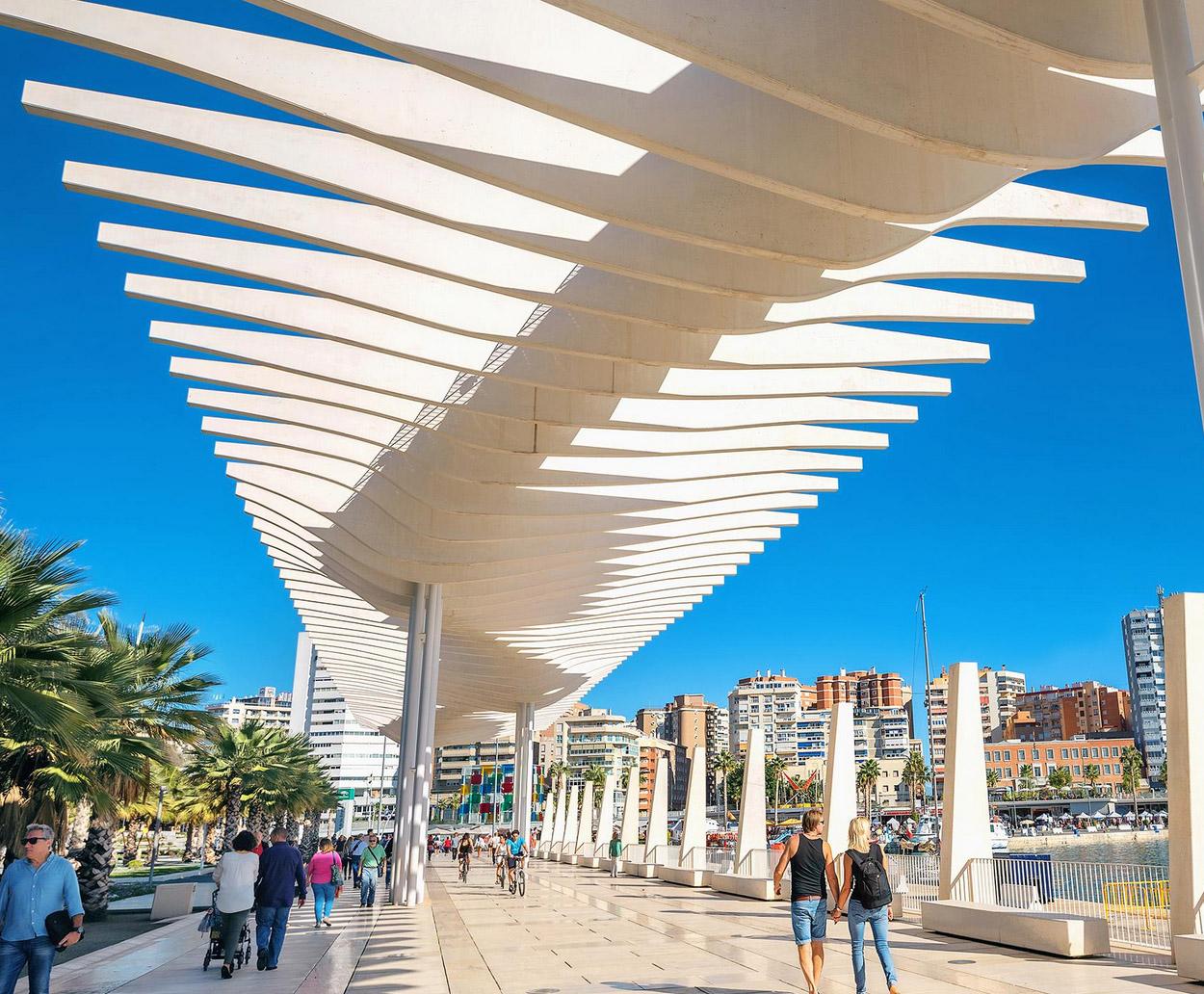 Promenade du port - Malaga